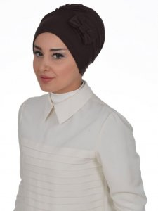 Halima Brown Turban Ayse Turban Tasarim 321709a
