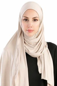 Hanfendy Beige Practical One Piece Hijab 201711-1