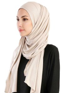 Hanfendy Beige Practical One Piece Hijab 201711-2