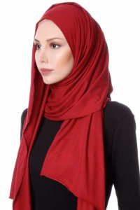 Hanfendy Bordeaux Praktisk One Piece Hijab Sjal 201706b