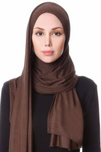 Hanfendy Brown Practical One Piece Hijab Scarf Shawl 201708a