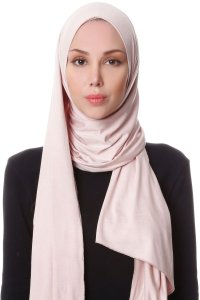 Hanfendy Dusty Pink Practical One Piece Hijab Scarf Shawl 201713a