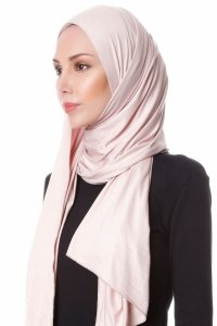 Hanfendy Dusty Pink Practical One Piece Hijab Scarf Shawl 201713b