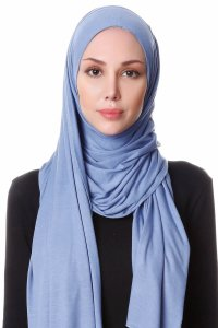 Hanfendy Indigo Practical One Piece Hijab Scarf Shawl 201741a