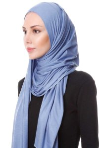 Hanfendy Indigo Practical One Piece Hijab Scarf Shawl 201741b