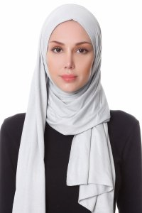 Hanfendy Light Grey Practical One Piece Hijab Scarf Shawl 201728a