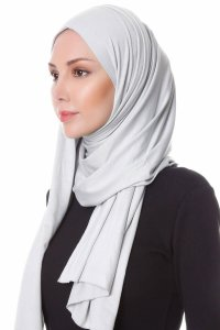 Hanfendy Light Grey Practical One Piece Hijab Scarf Shawl 201728b
