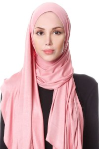 Hanfendy Dark Pink Practical One Piece Hijab Scarf Shawl 201747a