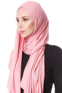 Hanfendy Dark Pink Practical One Piece Hijab Scarf Shawl 201747b