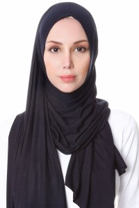 Hanfendy Black Practical One Piece Hijab Scarf Shawl 201701a