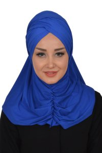 Hilda - Blue Cotton Hijab