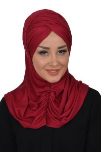 Hilda - Bordeaux Cotton Hijab