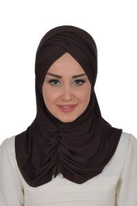 Hilda - Brown Cotton Hijab