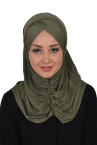Hilda - Khaki Cotton Hijab