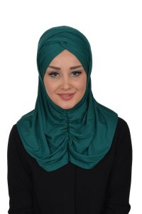 Hilda - Dark Green Cotton Hijab