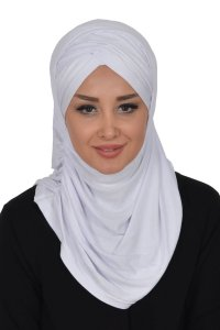 Hilda - White Cotton Hijab