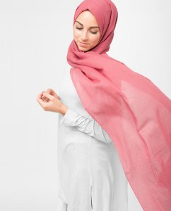 Hollyberry Rosa Bomull Voile Hijab 5TA20b