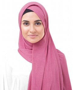 Honey Suckle Fuchsia Viskos Jersey Hijab InEssence 5VA56a
