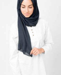 InEssence - Anthracit Viscose Hijab From Silk Route