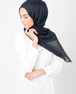 InEssence - Anthracit Viscose Maxi Hijab From Silk Route