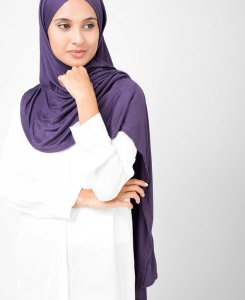 InEssence - Mulled Grape Viskos Jersey Hijab 5VA14b