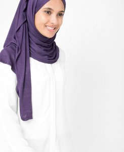 InEssence - Mulled Grape Viskos Jersey Hijab 5VA14c
