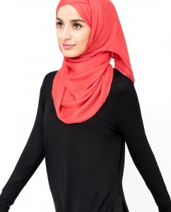 InEssence - Poinsetta Viscose Hijab From Silk Route