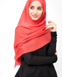 InEssence - Poinsetta Viscose Maxi Hijab From Silk Route