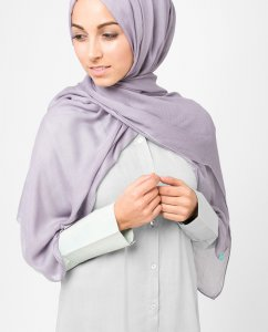 InEssence Purple Ash Viscose Hijab 5HA14a