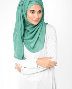 InEssence - Teal Green Viscose Hijab From Silk Route