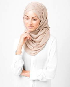 InEssence - Warm Taupe Viscose Hijab From Silk Route