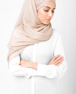 InEssence - Warm Taupe Viscose Maxi Hijab From Silk Route