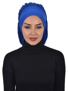 Isabella Blue Cotton Turban Ayse Turban 322504-1