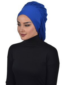Isabella Blue Cotton Turban Ayse Turban 322504-2