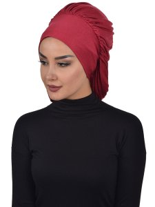 Isabella Bordeaux Cotton Turban Ayse Turban Cancer Krebs 322503-2