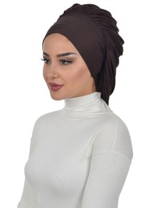 Isabella Brun Bomull Turban Cancer Krebs Ayse Turban 322505-2