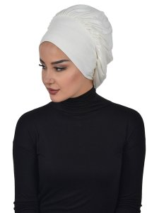 Isabella Creme Bomull Turban Cancer Krebs Ayse Turban 322508-2