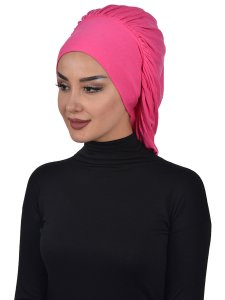 Isabella Fuchsia Bomull Turban Cancer Krebs Ayse Turban 322510-2