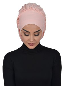 Isabella Dusty Pink Cotton Turban Cancer Krebs Ayse Turban 322506-1