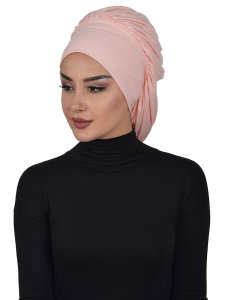 Isabella Dusty Pink Cotton Turban Cancer Krebs Ayse Turban 322506-2