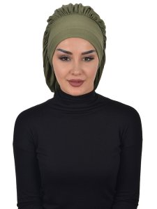 Isabella Khaki Bomull Turban Cancer Krebs Ayse Turban 322513-1