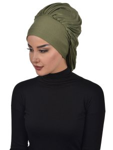 Isabella Khaki Bomull Turban Cancer Krebs Ayse Turban 322513-2