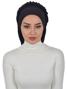 Isabella Svart Bomull Turban Cancer Krebs Ayse Turban 322506-1
