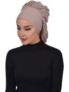 Isabella Taupe Cotton Turban Ayse Turban Cancer Krebs 322502-2