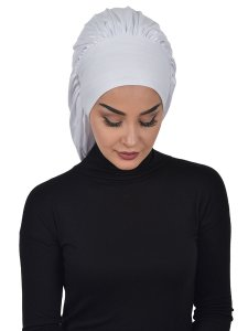 Isabella Vit Bomull Turban Cancer Krebs Ayse Turban 322512-1