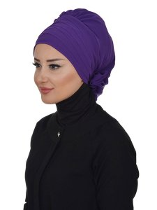 Jane Purple Chiffon Turban Ayse Turban 325912a