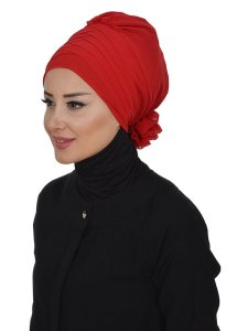 Jane Red Chiffon Turban Ayse Turban 325909a