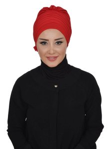 Jane Red Chiffon Turban Ayse Turban 325909b