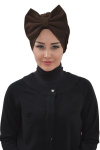 Julia - Brown Cotton Turban