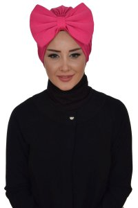 Julia - Fuchsia Cotton Turban
